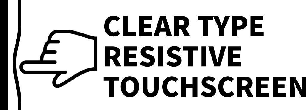 Clear Type Resistive Touchscreen